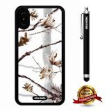 iPhone X Case, Branch Case, Cowcool Ultra Thin Soft Silicone Case for Apple iPhone 10 - Winter White Twig Camo