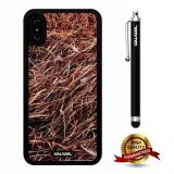 iPhone X Case, Branch Case, Cowcool Ultra Thin Soft Silicone Case for Apple iPhone 10 - Brown Grass Camo Camo