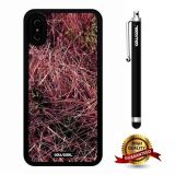 iPhone X Case, Branch Case, Cowcool Ultra Thin Soft Silicone Case for Apple iPhone 10 - Pink Red Camo Camo