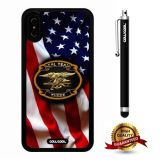 iPhone X Case, US Flag Case, Cowcool Ultra Thin Soft Silicone Case for Apple iPhone 10 - U.S.Seal Team Three With American Fla