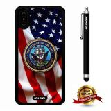 iPhone X Case, US Flag Case, Cowcool Ultra Thin Soft Silicone Case for Apple iPhone 10 - U.S.Department The Navy With American Fla