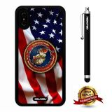 iPhone X Case, US Flag Case, Cowcool Ultra Thin Soft Silicone Case for Apple iPhone 10 - U.S.Marine Forces Central Command With American Fla