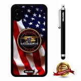 iPhone X Case, US Flag Case, Cowcool Ultra Thin Soft Silicone Case for Apple iPhone 10 - U.S.Special Boat Team 12 With American Fla