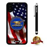 iPhone X Case, US Flag Case, Cowcool Ultra Thin Soft Silicone Case for Apple iPhone 10 - U.S.Special Boat Team 20 With American Fla