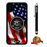 iPhone X Case, US Flag Case, Cowcool Ultra Thin Soft Silicone Case for Apple iPhone 10 - U.S.Special Boat Team 22 With American Fla