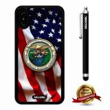 iPhone X Case, US Flag Case, Cowcool Ultra Thin Soft Silicone Case for Apple iPhone 10 - U.S.Naval Special Warfare Command With American Fla