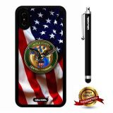 iPhone X Case, US Flag Case, Cowcool Ultra Thin Soft Silicone Case for Apple iPhone 10 - U.S.A Central Command With American Fla