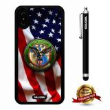 iPhone X Case, US Flag Case, Cowcool Ultra Thin Soft Silicone Case for Apple iPhone 10 - U.S.Central Command With American Fla