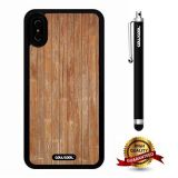 iPhone X Case, Wood Texture Case, Cowcool Ultra Thin Soft Silicone Case for Apple iPhone 10 - Fine Vertical Lines Wood Texture