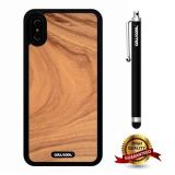 iPhone X Case, Wood Texture Case, Cowcool Ultra Thin Soft Silicone Case for Apple iPhone 10 - Root Slice Wood Texture