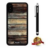 iPhone X Case, Wood Texture Case, Cowcool Ultra Thin Soft Silicone Case for Apple iPhone 10 - Old Landscape Wood Texture