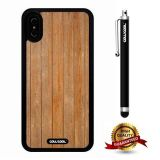 iPhone X Case, Wood Texture Case, Cowcool Ultra Thin Soft Silicone Case for Apple iPhone 10 - Old Vertical Wood Texture