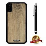 iPhone X Case, Wood Texture Case, Cowcool Ultra Thin Soft Silicone Case for Apple iPhone 10 - Chinese Fir Wood Texture