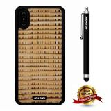iPhone X Case, Wood Texture Case, Cowcool Ultra Thin Soft Silicone Case for Apple iPhone 10 - Mesh Weaving Wood Texture