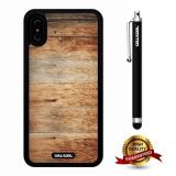 iPhone X Case, Wood Texture Case, Cowcool Ultra Thin Soft Silicone Case for Apple iPhone 10 - Transverse Plank Slices Wood Texture
