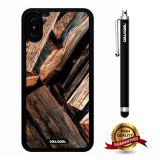 iPhone X Case, Wood Texture Case, Cowcool Ultra Thin Soft Silicone Case for Apple iPhone 10 - Stale Wooden Block Wood Texture