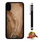 iPhone X Case, Wood Texture Case, Cowcool Ultra Thin Soft Silicone Case for Apple iPhone 10 - Cracking Rings Wood Texture